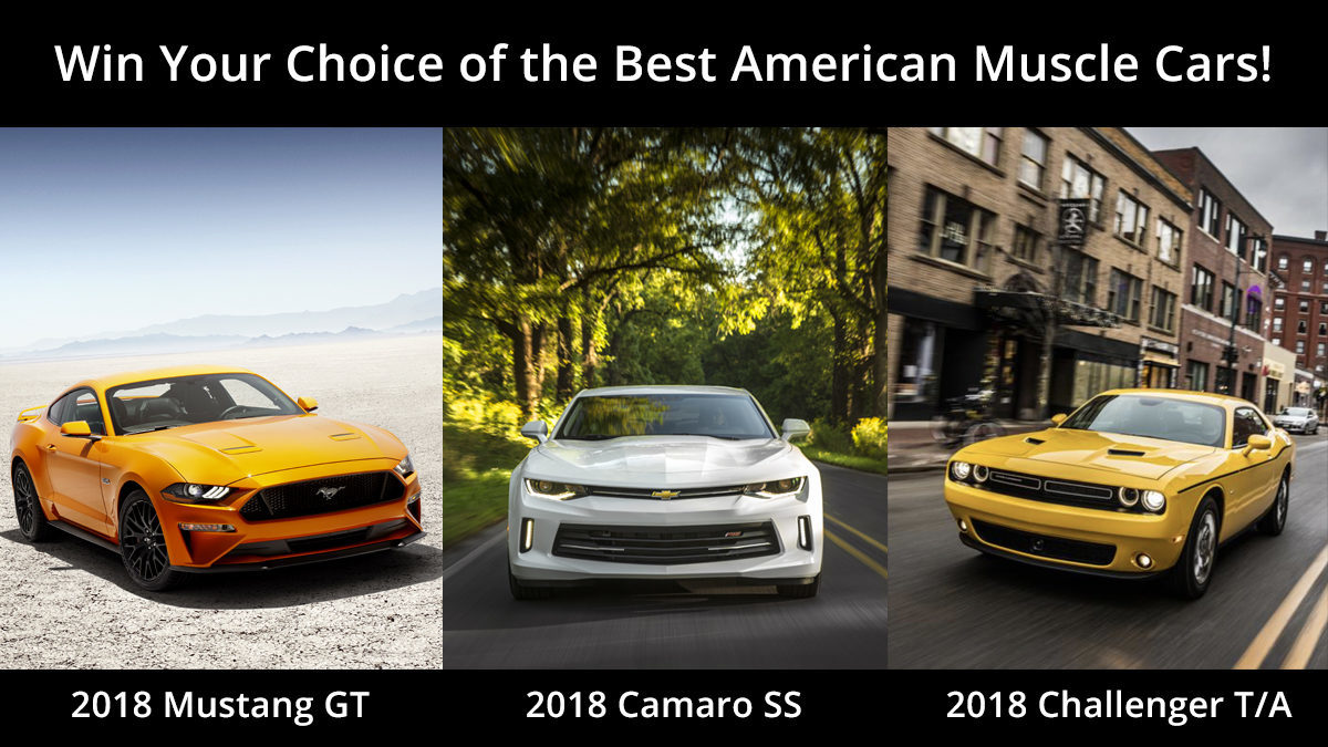 Win Your Choice of These Three Awesome Muscle Cars! | Skyline Kiwanis